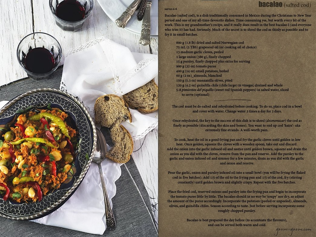 bacalao (salted cod) recipe | gnom-gnom.com