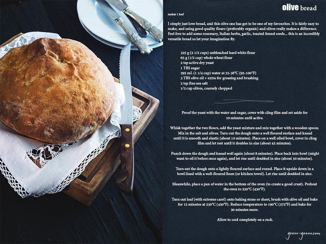 olive bread recipe | gnom-gnom.com