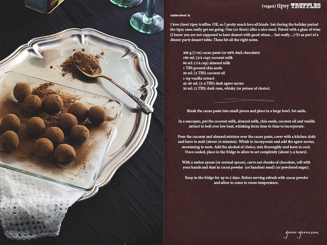 (vegan) tipsy truffles recipe | gnom-gnom.com