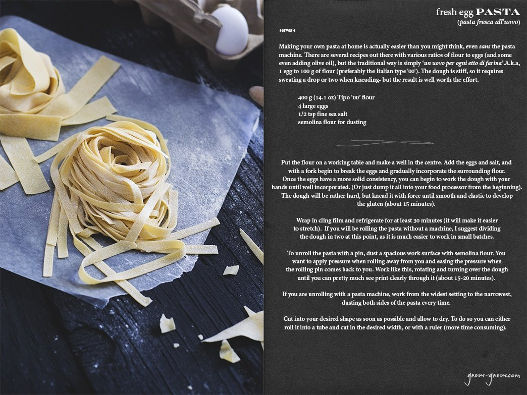 fresh egg pasta recipe | gnom-gnom.com