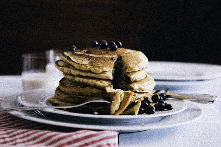 (gluten free) buckwheat pancakes