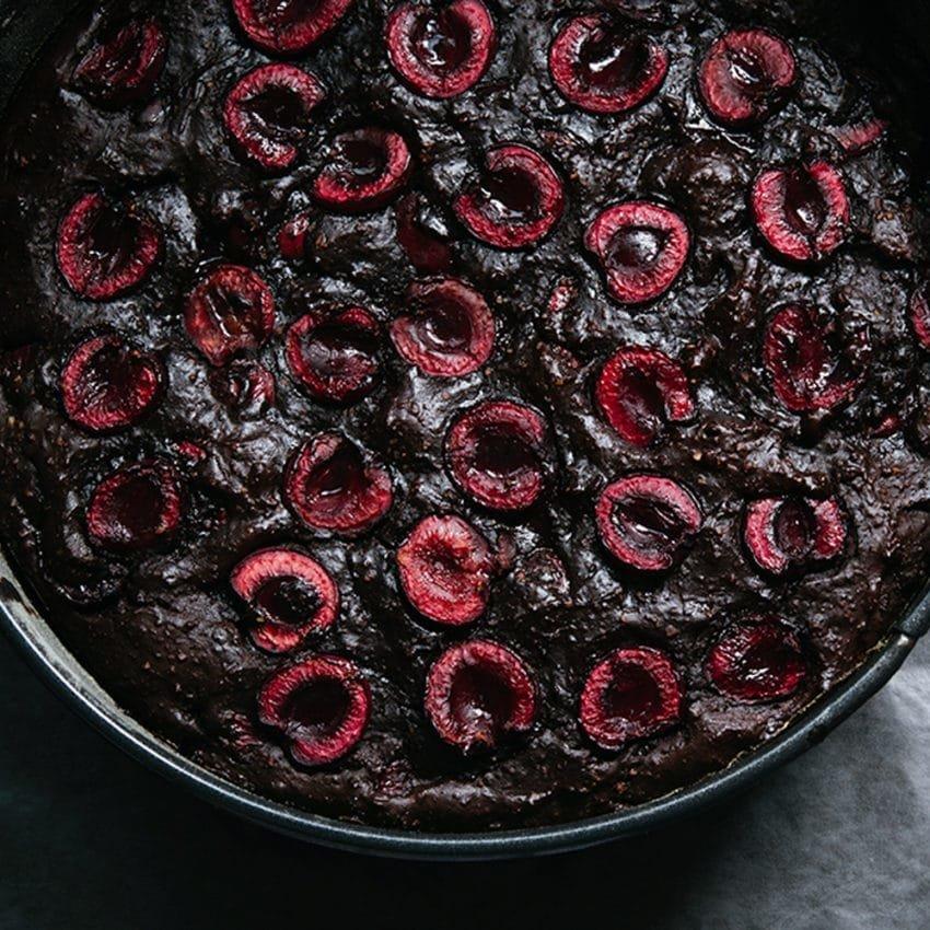 Cherry & Ricotta Gluten Free Chocolate Torte