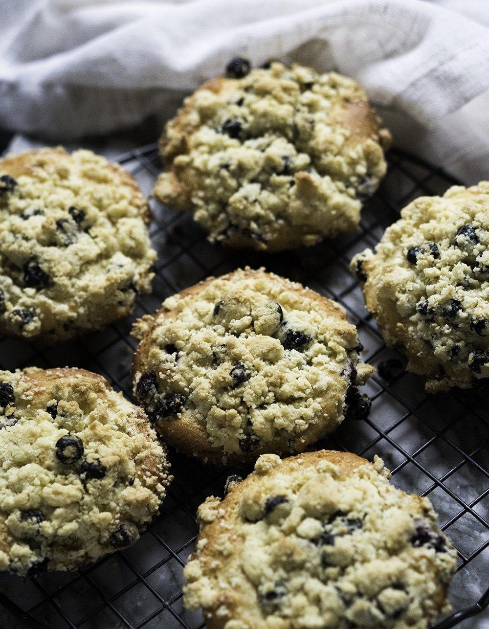 Gluten Free Blueberry Muffin Tops