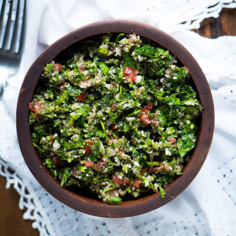 Crunchy Ketogenic Tabbouleh | Gnom Gnom | Bloglovin'