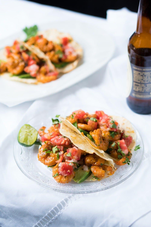 Keto & Gluten Free Real Mexican Shrimp Tacos ? 3g net carbs per taco!