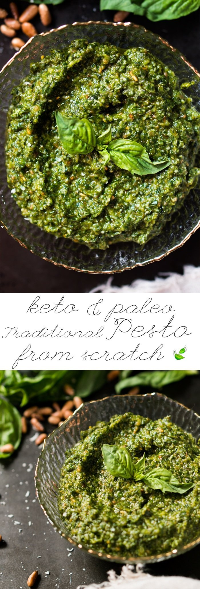 Paleo, Low Carb & Keto Pesto 🍃 A traditional Italian recipe from scratch! #keto #ketodiet #lowcarb #paleo #ketorecipes