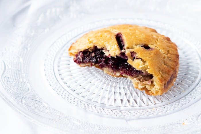 Bitten blackberry keto hand pie