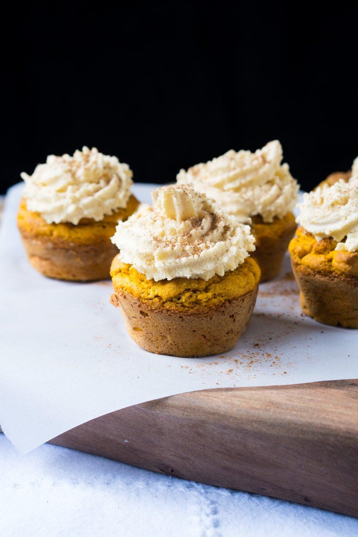 Gluten Free, Paleo & Keto Pumpkin Cupcakes