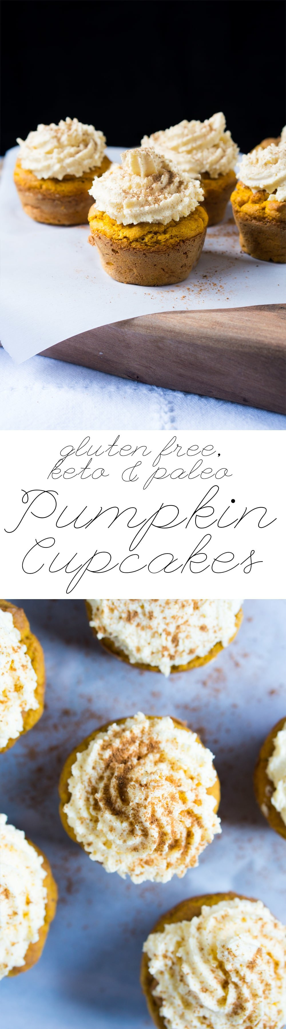 Gluten Free, Paleo & Keto Pumpkin Cupcakes 🎃