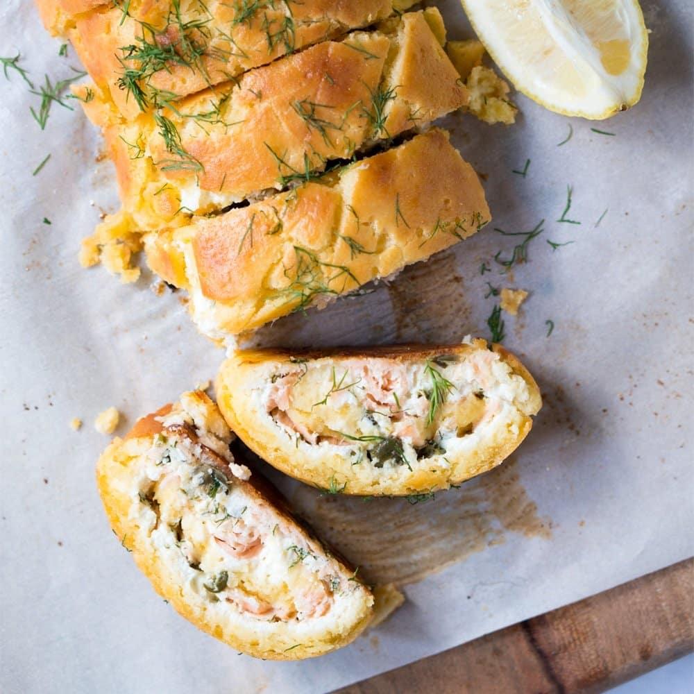 Gluten Free \u0026 Keto Smoked Salmon \u0026 Ricotta Pastry Roll,Up ?