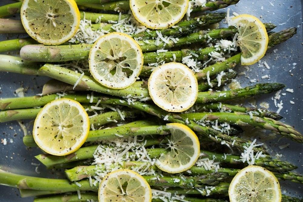 Lemon & Parmesan Roasted Asparagus 🍋 gluten free & keto