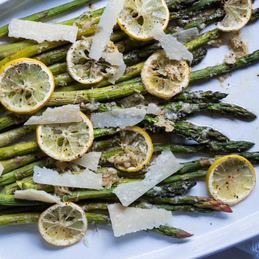Lemon & Parmesan Roasted Asparagus ? gluten free & keto