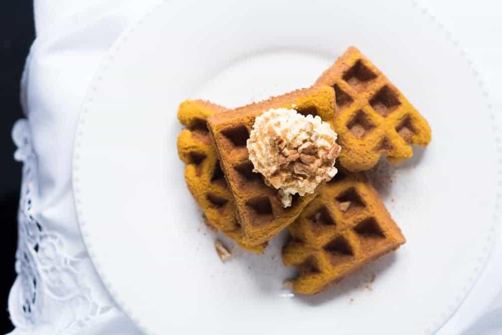 Pillowy Soft Keto Pumpkin Waffles ? gluten free, keto & paleo