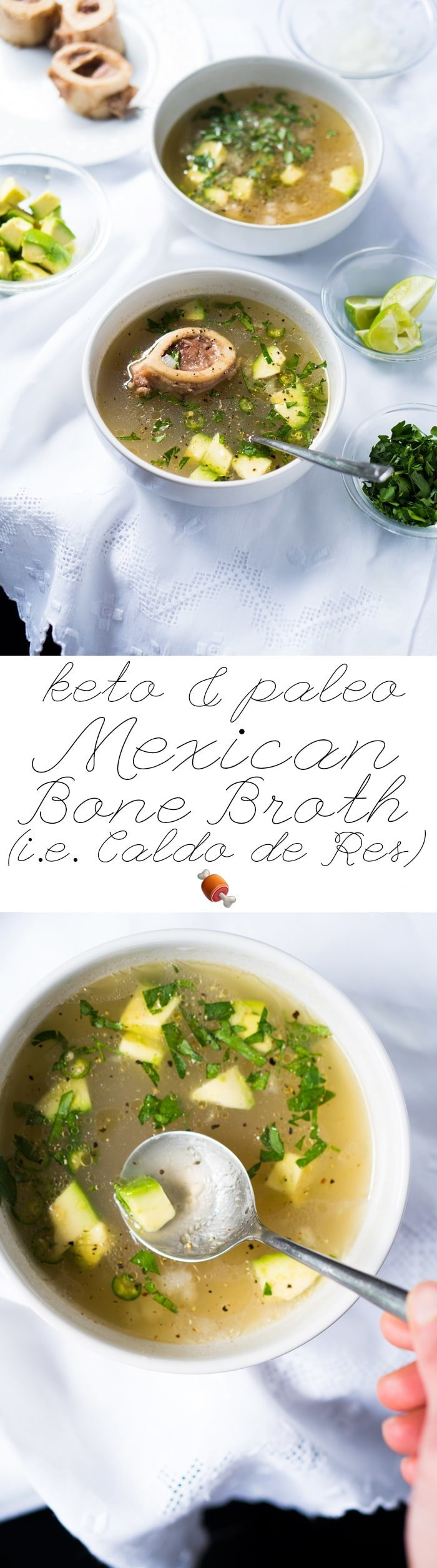 Paleo & Keto Mexican Bone Broth (i.e. Caldo de Res) 🍖