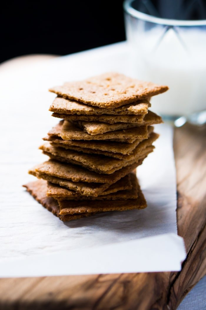 Gluten Free & Keto Graham Crackers 🍪 #keto #lowcarb #grainfree #healthyrecipes