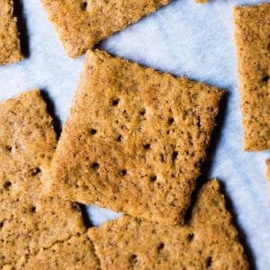 Gluten Free & Keto Graham Crackers 🍪 #keto #lowcarb #grainfree #healthyrecipes