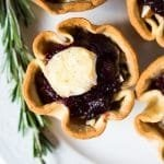 Keto brie and cranberry cups