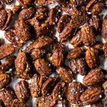 Paleo & Keto Candied Pecans #keto #lowcarb #healthyrecipes #glutenfree #pecans #paleo #dairyfree