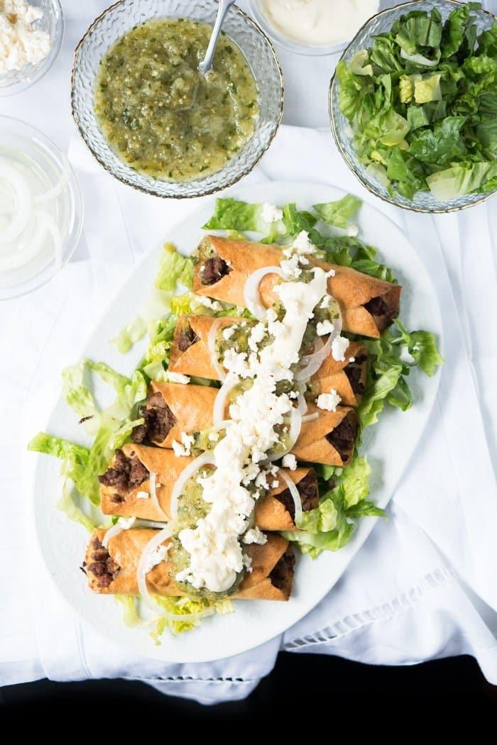 Gluten Free & Keto Mexican Flautas i.e. Tacos Dorados 🌮 #ketotortillas #ketotacos