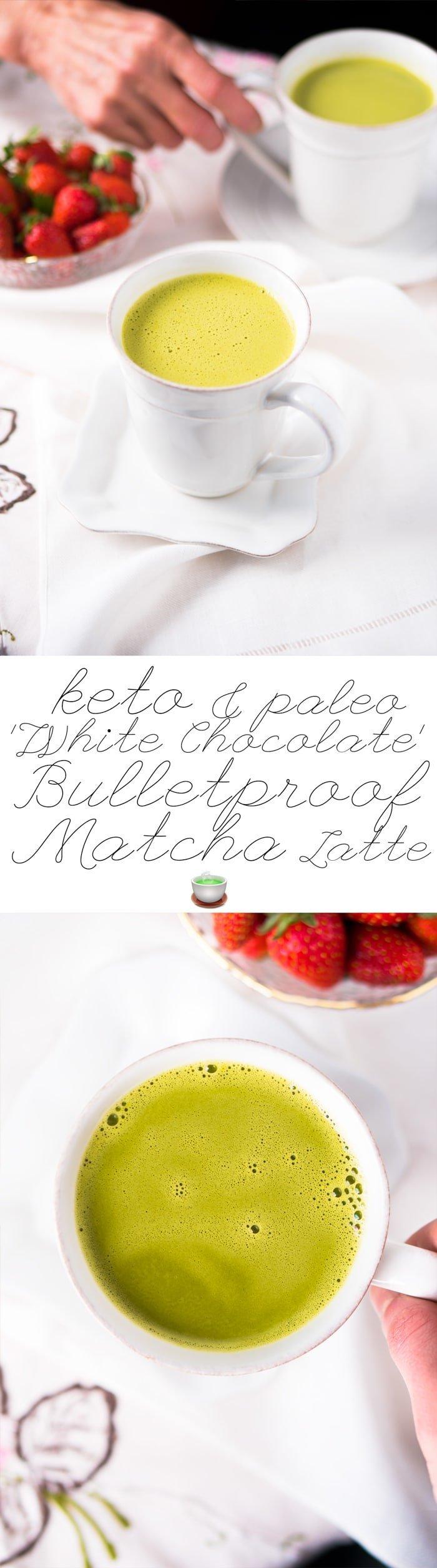 'White Chocolate' Keto Bulletproof Matcha Latte 🍵 #ketobulletproofcoffe #bpc #matchalatte