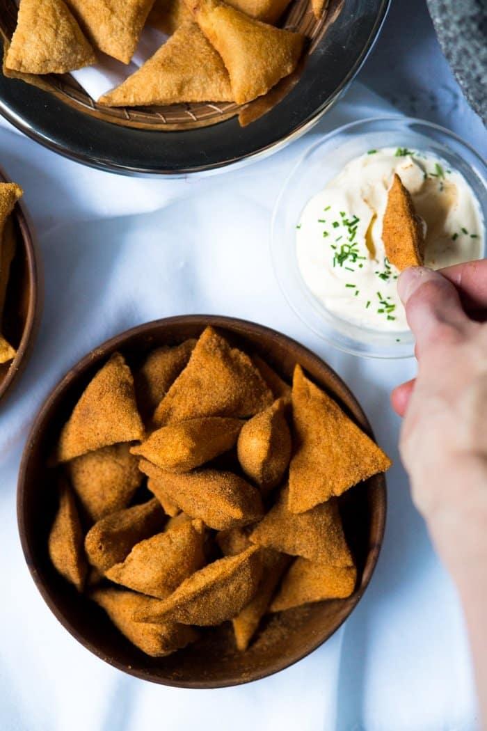 Gluten Free & Keto Tortilla Chips 🌶️ 3 Ways #keto #ketochips #lowcarbchips #ketotortilla