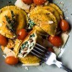 Grain Free, Low Carb & Keto Ravioli 🍝 #ketoravioli #ketopasta #lowcarbpasta #grainfreepasta