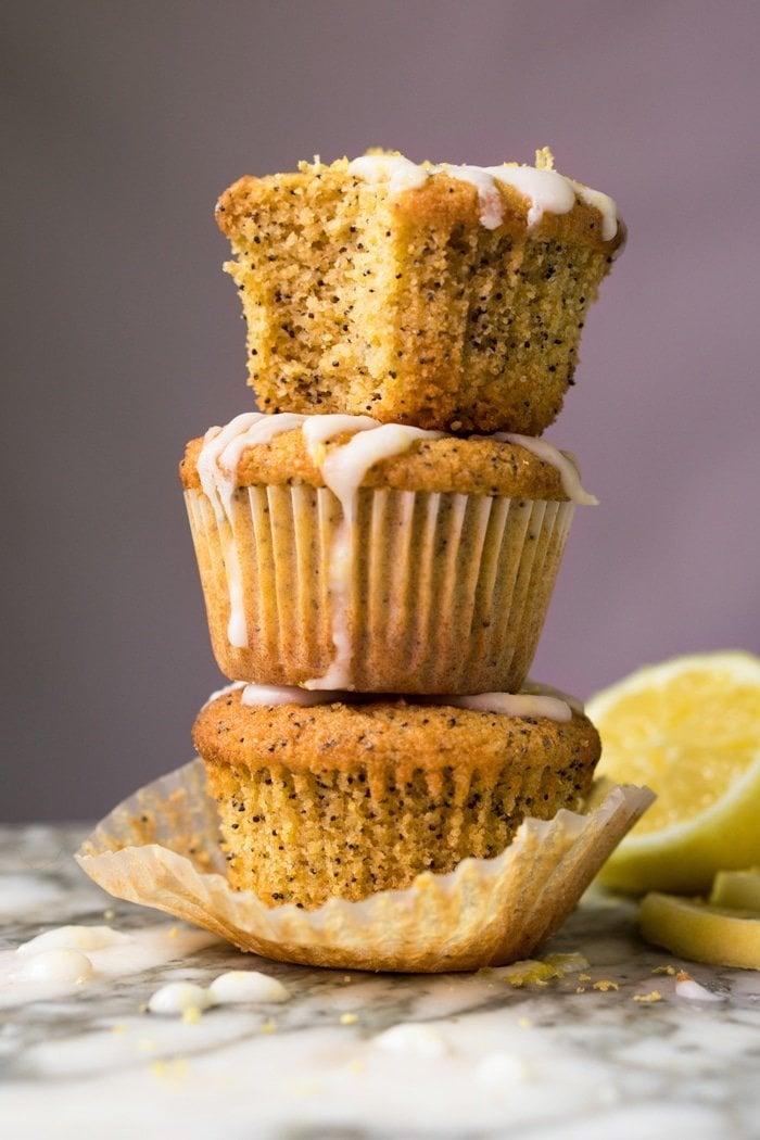Piled-Up Paleo & Keto Lemon Poppy Seed Muffins
