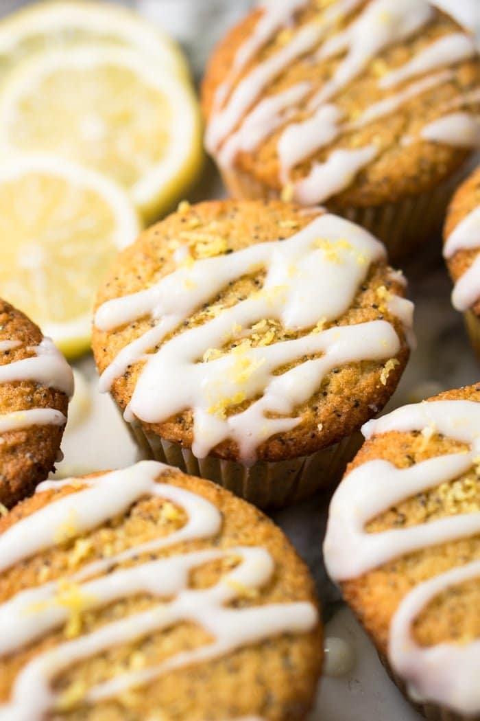 (2g net carb!) Gluten Free, Paleo & Keto Lemon Poppy Seed Muffins 🍋 #keto #lowcarb #dairyfree #paleo #healthyrecipes #muffins #ketodessert