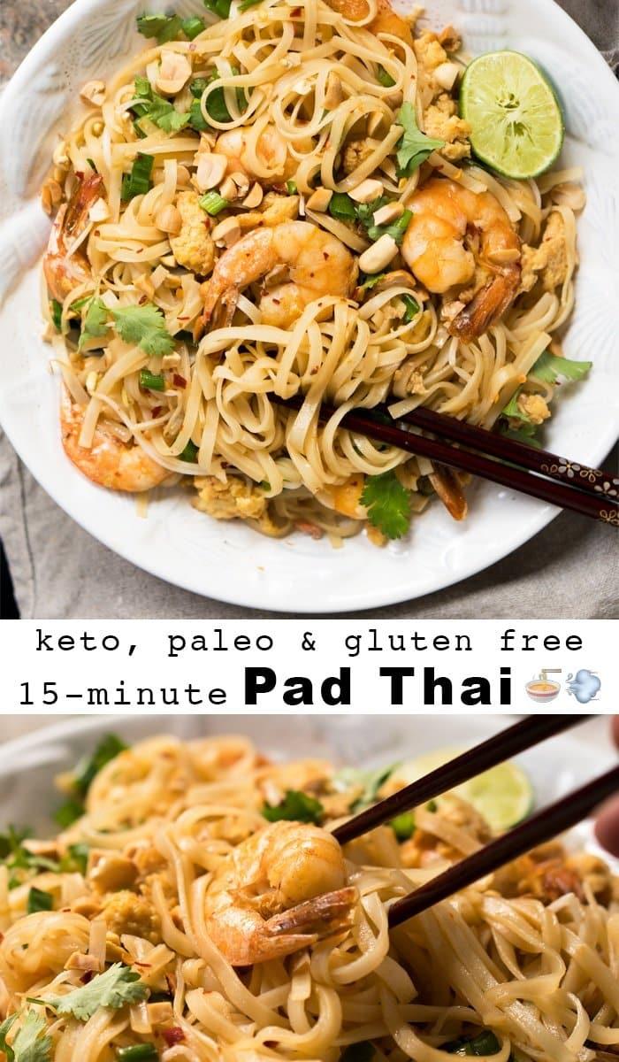 Gluten Free Paleo Amp Keto Pad Thai With Shirataki Noodles