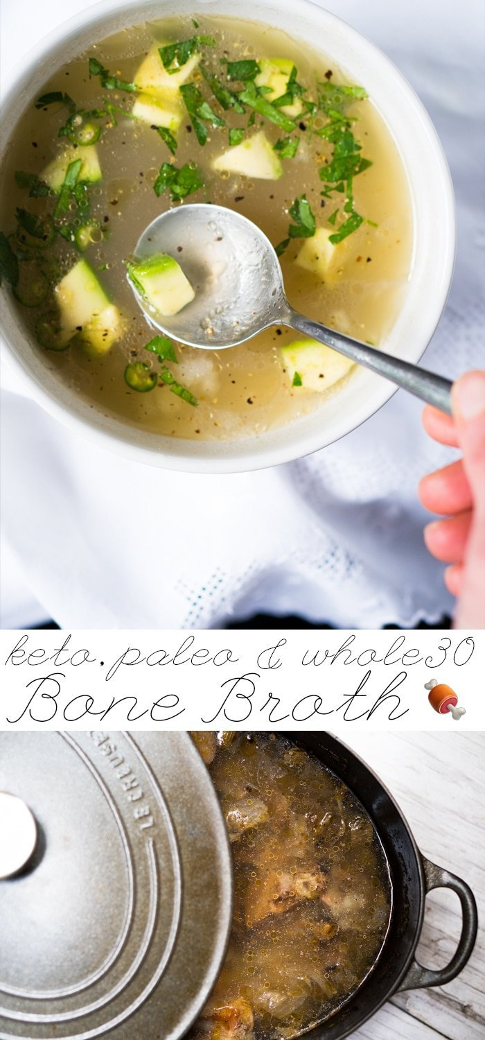 Paleo, Whole30 & Keto Bone Broth 🍖 #keto #paleo #whole30 #healthyrecipes #bonebroth