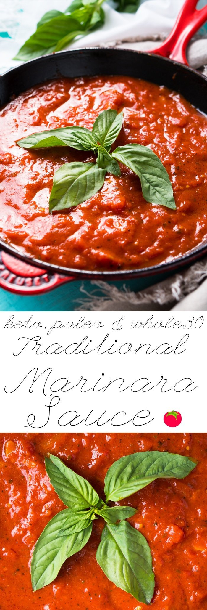Paleo, Whole30 & Keto Marinara Sauce 🍅 #ketomarinara #marinarasauce #whole30