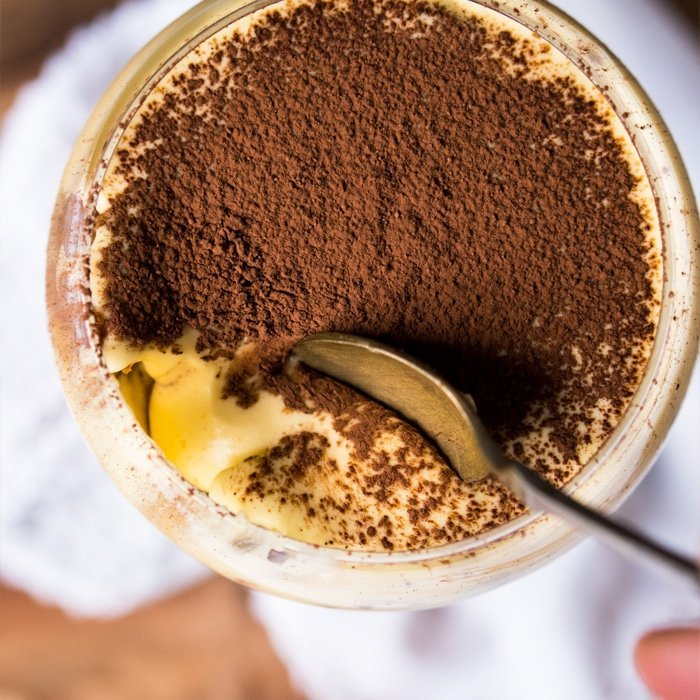 Gluten Free, Low Carb & Keto Tiramisu For 1 #keto #lowcarb #healthyrecipes #glutenfree #tiramisu