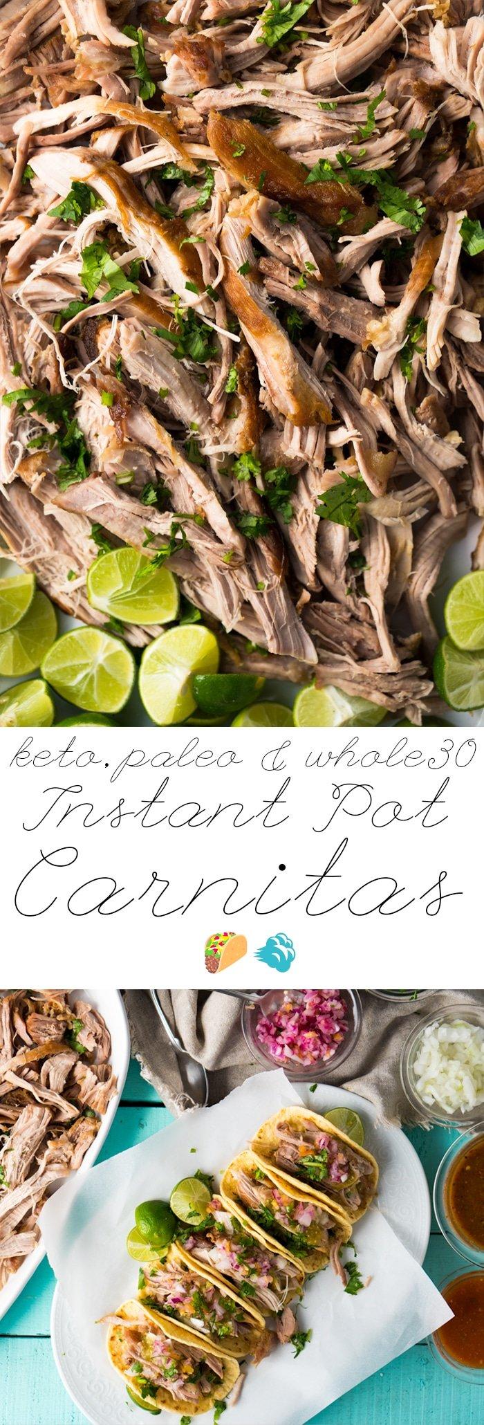 Paleo, Whole30 & Keto Instant Pot Carnitas🌮💨 #instantpotcarnitas #ketocarnitas