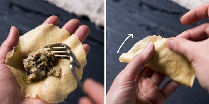 How to fold keto dumplings