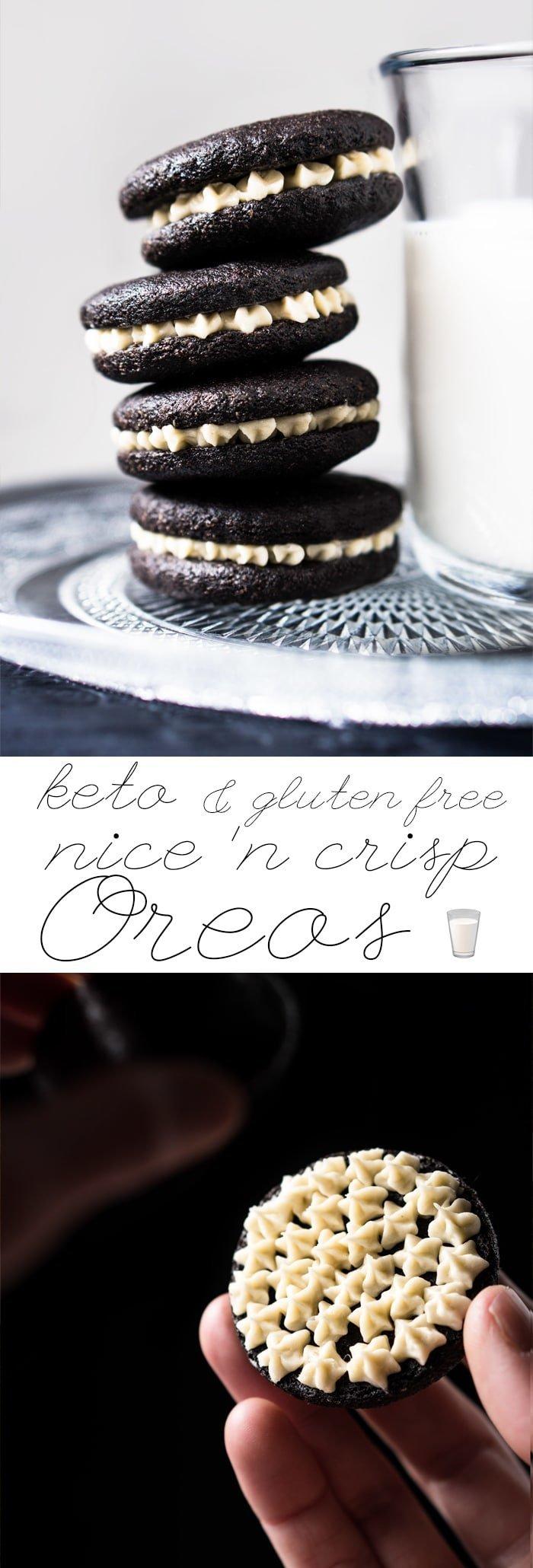 Grain Free, Gluten Free & Keto Oreo Cookies 🥛 Properly crisp! #keto #ketodessert #ketocookies #grainfree