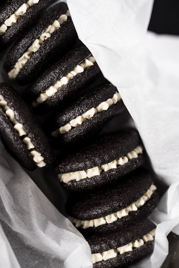 Keto oreo cookies in a box