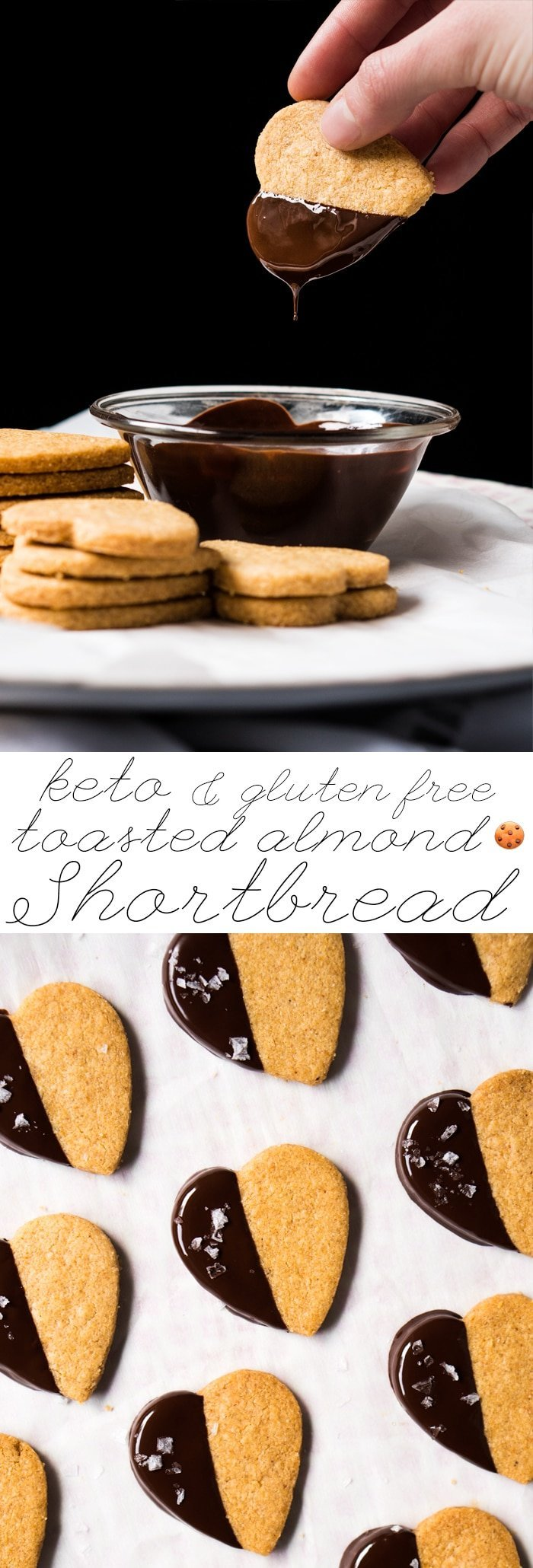 Toasted Almond Gluten Free, Grain Free & Keto Shortbread Cookies 🍪 Less than 1g net carbs a pop! #ketocookies #ketosweettreats #ketoshortbread