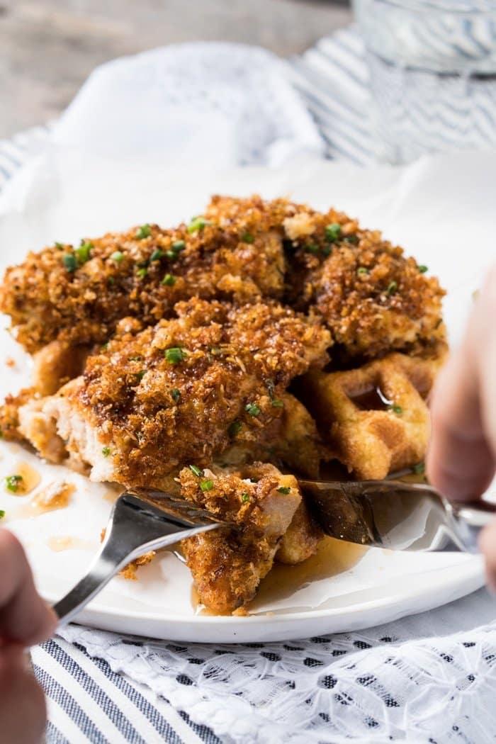 Gluten Free & Keto Fried Chicken and Waffles 🍗 #keto #ketodiet #lowcarb #glutenfree #healthyrecipes