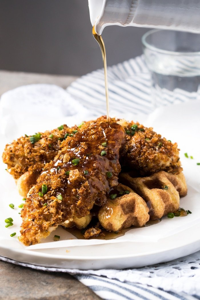 Gluten Free & Keto Fried Chicken and Waffles 🍗 #keto #ketodiet #lowcarb #glutenfree #healthyrecipes