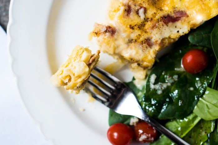 Gluten Free & Keto Quiche Lorraine🧀 with a super flakey grain free pie crust! #keto #glutenfree #healthyrecipes #lowcarb
