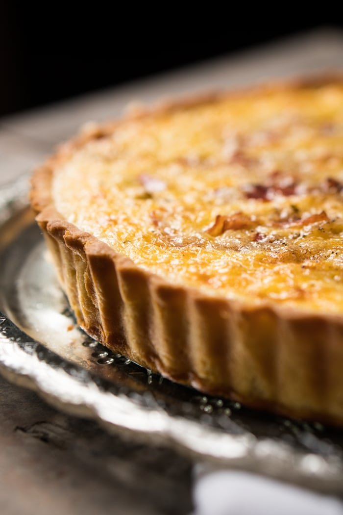 Keto Quiche Lorraine with a gluten free pie crust