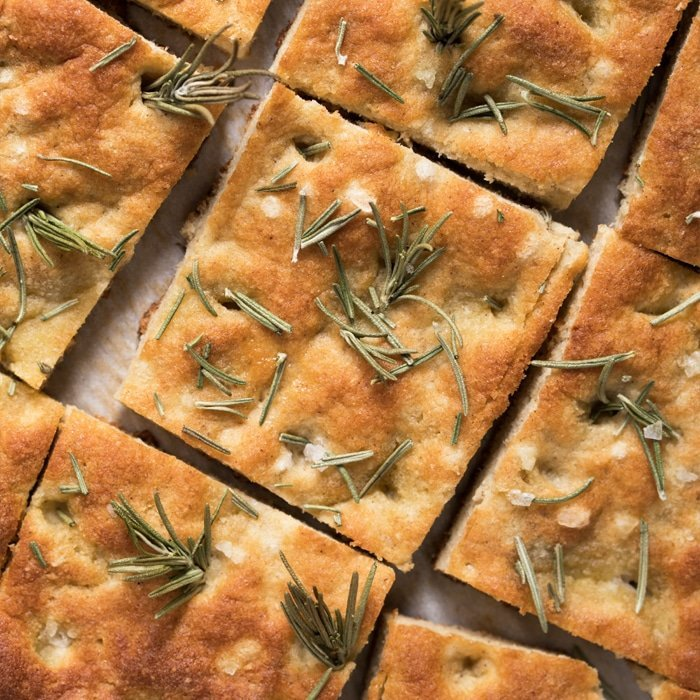 Gluten Free Paleo Keto Focaccia Bread With Rosemary Sea Salt