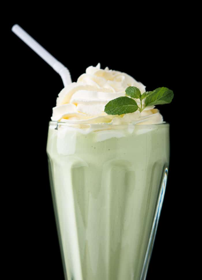 Paleo & Keto Shamrock Shake With Whipped Cream