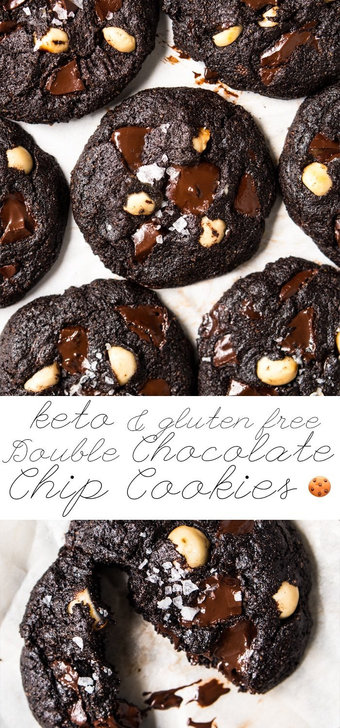 Gluten Free & Keto Double Chocolate Chip Cookies 🍪 #keto #glutenfree #healthyrecipes #ketodiet