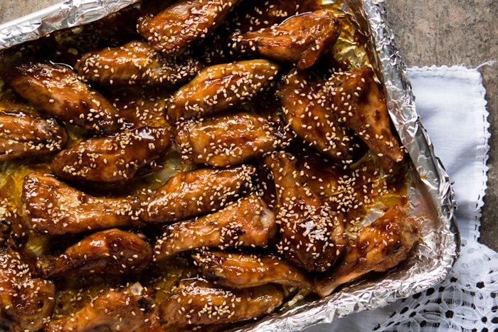 Paleo, Low Carb & Keto Sesame Chicken Wings 🍯 Sticky & easy! #keto #paleo #healthyrecipes #lowcarb