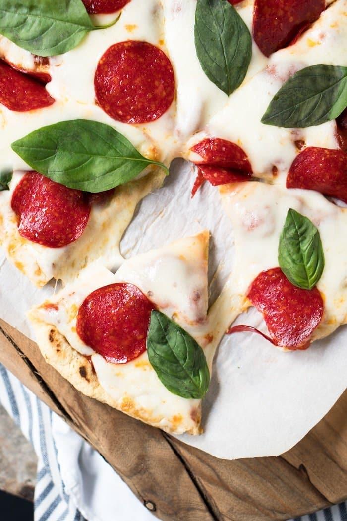 Gluten Free, Dairy Free & Keto Stove Top Pizza Crust ? #keto #ketorecipes #lowcarb #dairyfree #glutenfree #pizza #healthyrecipes