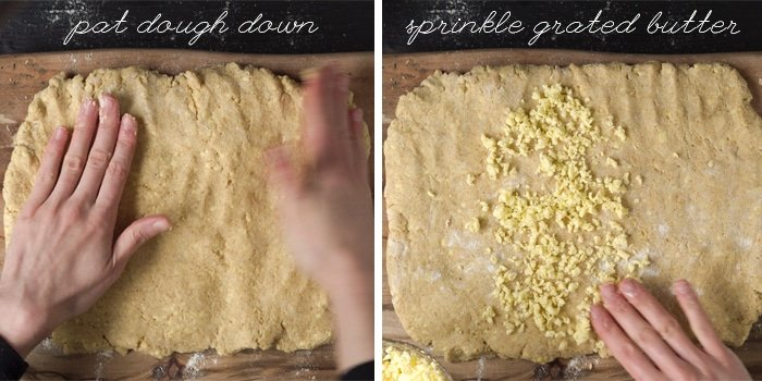 How to do a letter fold for keto biscuit dough