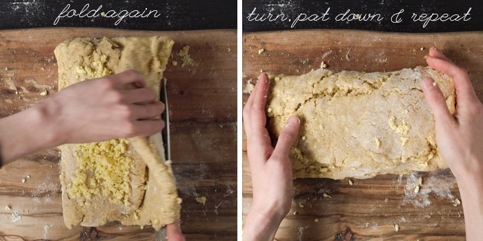 How to fold the dough for keto biscuits