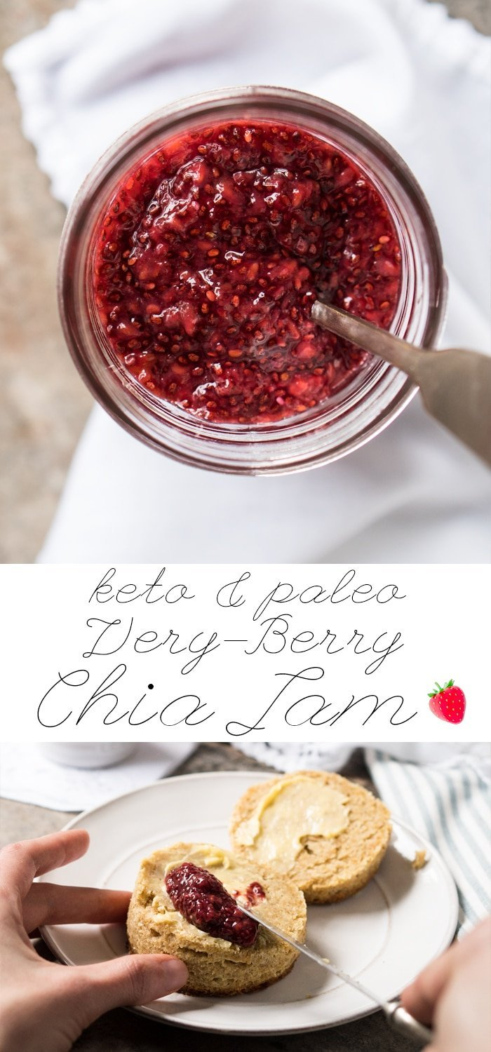 Very Berry Paleo, Low Carb & Keto Chia Jam | gnom-gnom