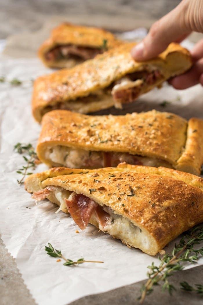 Gluten Free, Dairy Free & Keto Calzone 🍕 #keto #ketorecipes #lowcarb #dairyfree #glutenfree #pizza #healthyrecipes